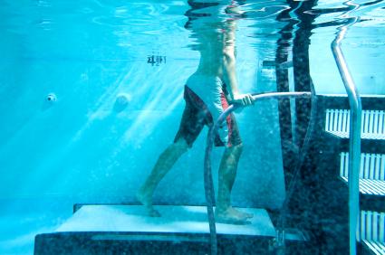 fysiotherapeut onder water